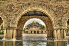教会hdr纪念斯坦福大学 免版税库存照片