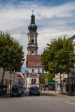 教会Heilig-Grabkirche圣皮特圣徒・彼得und圣保罗在德根多尔夫 免版税图库摄影