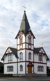 教会husavik本机 免版税库存图片