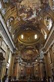 教会ignatius罗耀拉・罗马圣徒 免版税库存照片