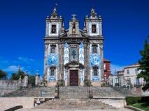 教会ildefonso ・波尔图葡萄牙圣徒 免版税库存照片