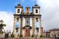 教会ildefonso ・波尔图葡萄牙santo 库存图片