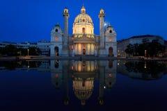 教会karls维也纳 图库摄影
