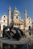 教会karlskirche维也纳 免版税库存图片