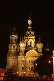 教会krovi na彼得斯堡俄国圣徒温泉 库存图片