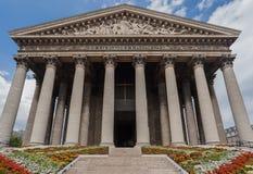 教会la马德琳・巴黎 免版税图库摄影