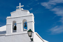 教会lanzarote塔白色 免版税库存图片
