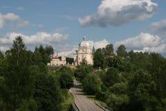 教会liskiava立陶宛 图库摄影