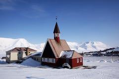 教会longyearbyen 免版税图库摄影