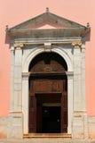 教会mediterrranean门的项 免版税库存照片