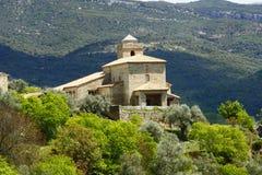 教会mipanas比利牛斯 免版税库存图片