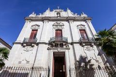 教会misericordia 晚新生建筑学的16世纪霍尔教会与一个巴洛克式的门面 免版税图库摄影