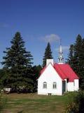 教会mont魁北克tremblant垂直 免版税库存照片