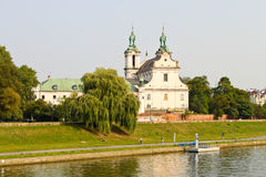 教会Na Skalce在克拉科夫,波兰 库存图片