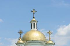 教会nadezhdy圆顶的lyubvi非常 库存照片
