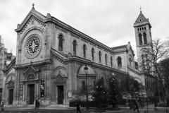 教会Notr贵妇人des冠军,巴黎,法国 免版税库存照片
