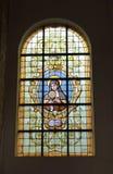 教会Notre Dame辅助财宝Claires,布鲁塞尔 免版税图库摄影