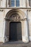 教会Notre Dame de la Chapelle在布鲁塞尔 图库摄影