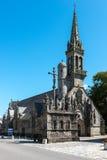 教会Notre Dame du孔福尔,孔福尔Meilars (法国) 库存照片