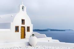 教会oia santorini 库存照片