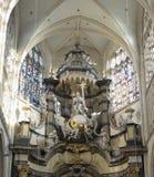 教会Onze辛迪里夫Vrouw在deDijlekerk 免版税库存照片