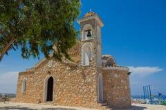 教会Profitis伊莱亚斯(普罗塔拉斯,塞浦路斯) 库存照片