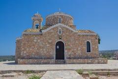 教会Profitis伊莱亚斯(普罗塔拉斯,塞浦路斯) 免版税库存照片