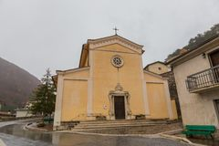 教会S.Miniato在佛罗伦萨-意大利 玛丽亚Assunta,维莱塔巴雷亚,阿布鲁佐,意大利 10月 库存图片