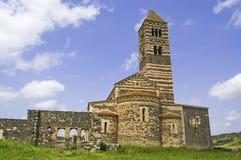教会saccargia 图库摄影