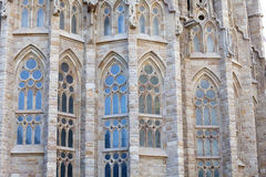 教会Sagrada Familia,巴塞罗那,西班牙细节  免版税库存图片