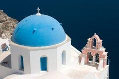 教会santorini 免版税库存图片