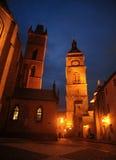 教会st精神和白色镇 免版税库存照片