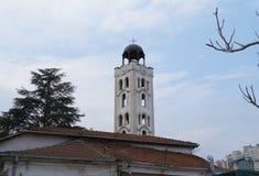 教会St萨洛尼卡和钟楼, 16世纪德米特里  免版税库存图片