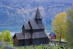 教会stavkirke urnes 图库摄影