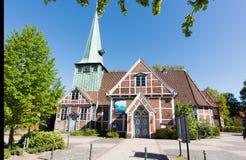 教会StPetri和圣保利队在汉堡,德国 库存图片