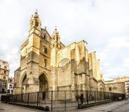 教会Sv Visente在圣塞瓦斯蒂安,西班牙 免版税库存图片