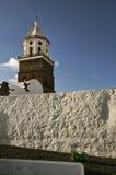 教会teguise塔 库存照片