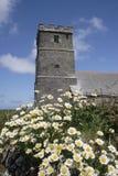 教会tintagel 库存照片