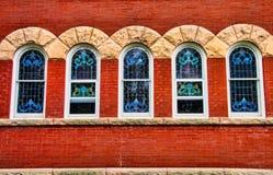 教会Windows 1 库存图片
