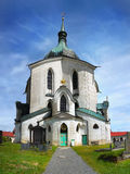教会Zelena Hora,朝圣地标,联合国科教文组织 免版税库存图片
