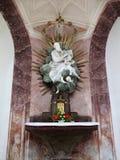 教会Zelena Hora,巴洛克式的雕塑,联合国科教文组织 库存照片