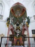 教会Zelena Hora,主要法坛,联合国科教文组织 库存图片