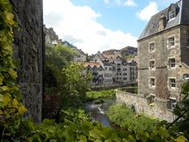 教务长村庄,一个小和美丽如画的村庄在爱丁堡的中心 免版税库存照片