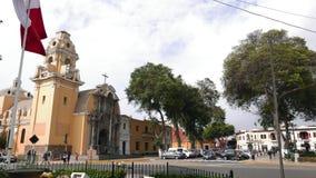 教区教堂在利马Barranco区  库存图片
