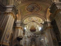 教区教堂在昆奇内托 免版税库存图片