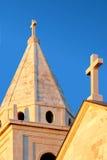 教区教堂的塔 库存图片