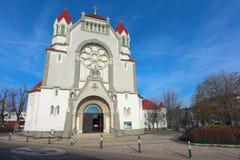 教区教堂Hetzendorf (Rosenkranzkirche) 奥地利维也纳 免版税库存图片