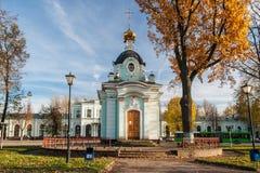 教堂。普斯克夫。俄罗斯。 免版税库存图片