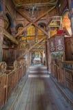 教堂中殿在乌尔内斯梯级教会里 库存照片