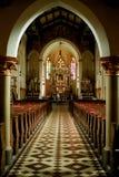 教堂中殿 免版税库存照片